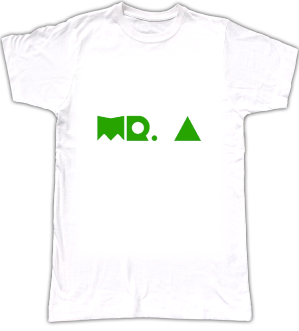 Mr A T shirt, with green logo - Biggroove Records
