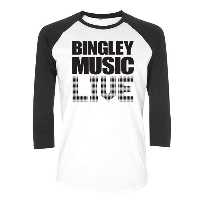 Blk/Wht Logo Baseball T - Bingley Music Live