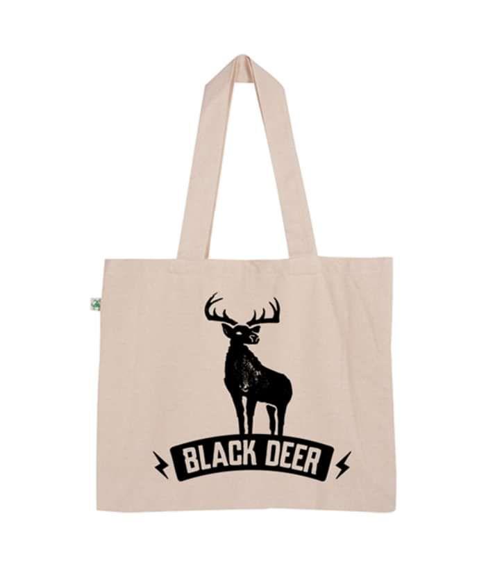 Black Deer Cream Tote Bag - Black Deer Festival