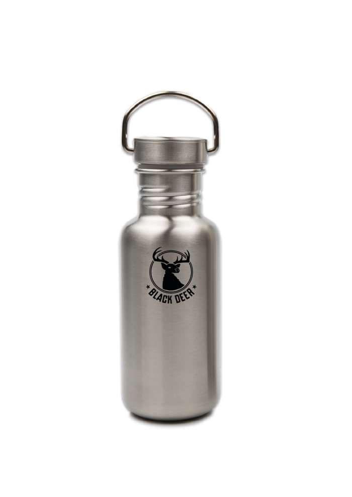 Black Deer Small Metal Water Bottle - Black Deer Festival