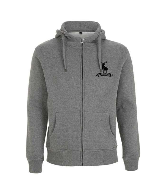 Dark Heather Bolt Hoodie - Black Deer Festival