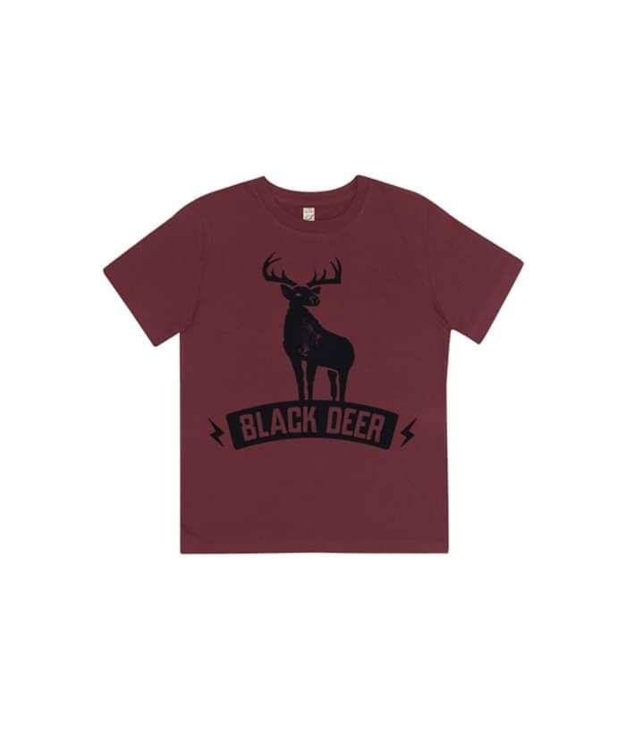 Kids Burgundy Bolt T - Black Deer Festival