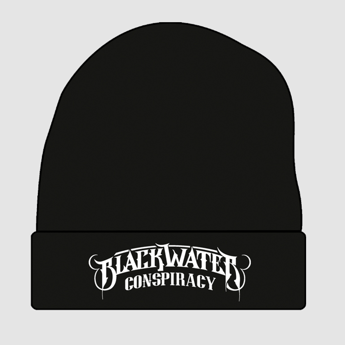 Knitted Beanie (White Logo) - Blackwater Conspiracy