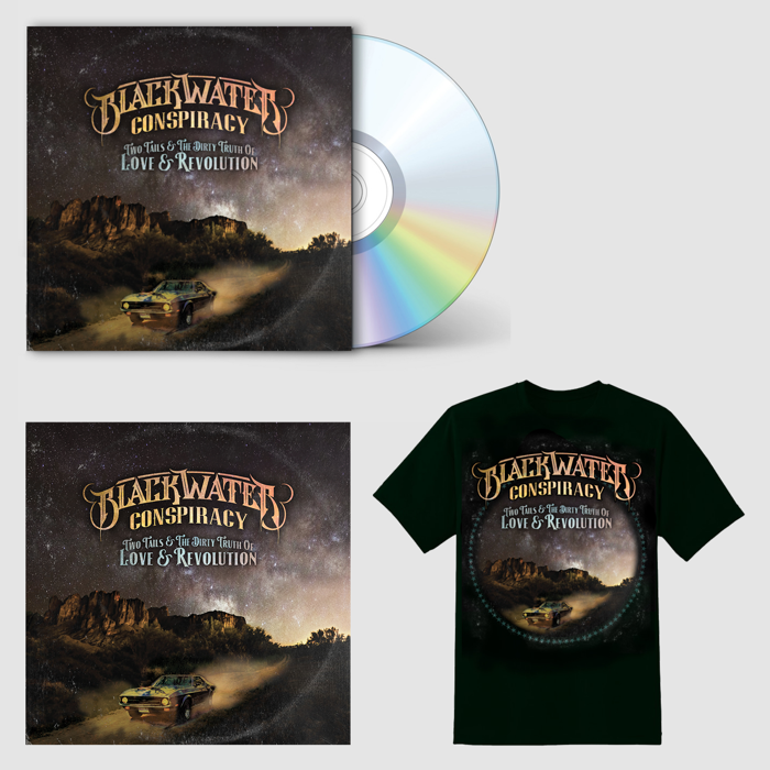 Two Tails & The Dirty Truth of Love & Revolution (Signed CD + T-Shirt + Signed & Numbered Limited Edition Art Print) - Blackwater Conspiracy