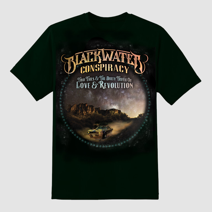 Two Tails & The Dirty Truth of Love & Revolution T-Shirt - Blackwater Conspiracy