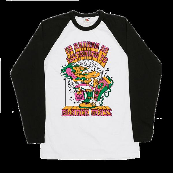'Face Melt' Baseball T-Shirt - Blanck Mass