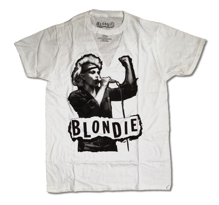 JUNIORS BLONDIE TORN TEE - BlondieUS