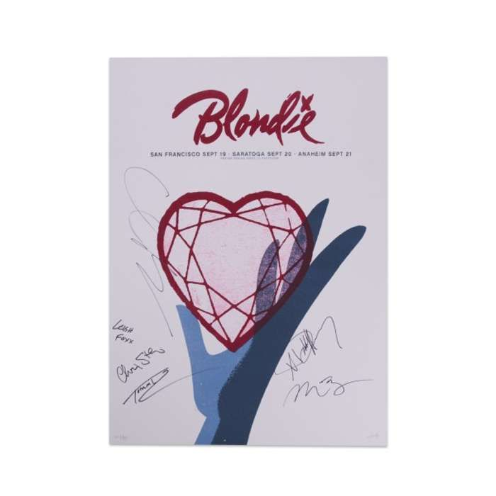 SIGNED HEART OF GLASS POSTER - BlondieUS