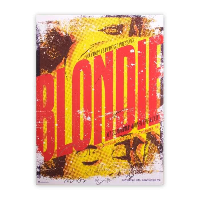 SIGNED ROANOKE CITY NO PRINCIPALS TOUR POSTER - BlondieUS