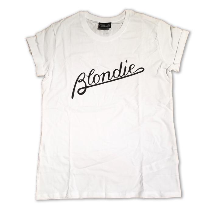 WOMENS PARALLEL LINES - BLACK LOGO TEE - BlondieUS
