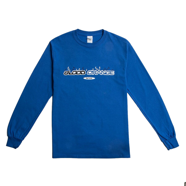 Blue Long Sleeve Skate Tee - Blood Orange