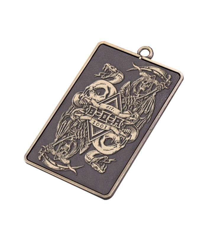 "BOA ""Card"" Metal Keyring - Bloodstock"