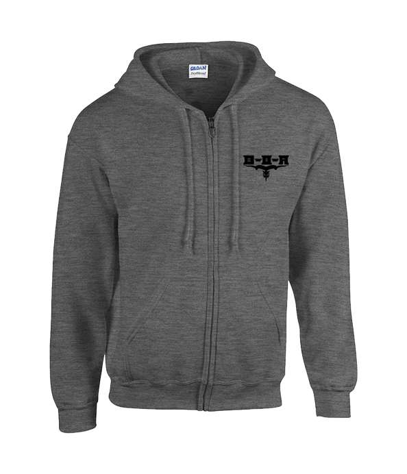 BOA Grey Embroidered Zip Hoodie - Bloodstock