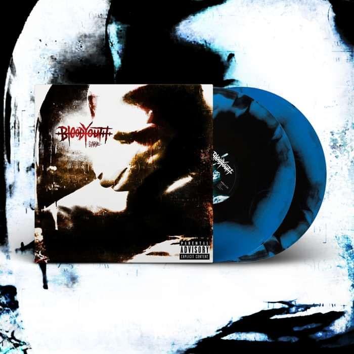 STARVE - Blue w/ Black Swirl 2xLP [Signed] - Blood Youth