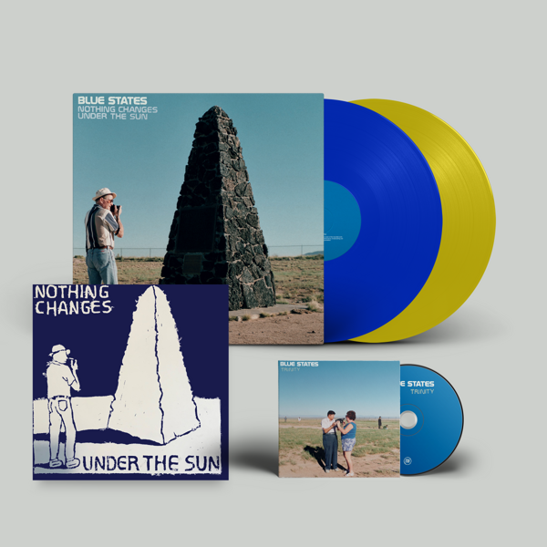 Nothing Changes Under the Sun - Blue & Yellow vinyl 20th Year Anniversary Reissue + Bonus Disc + Lino Print +  DL (US Shipping) - Blue States