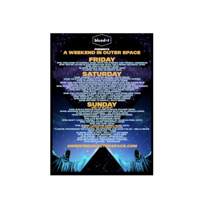 A Weekend in Outer Space Limited Edition Running Order (A2) - Bluedot Festival