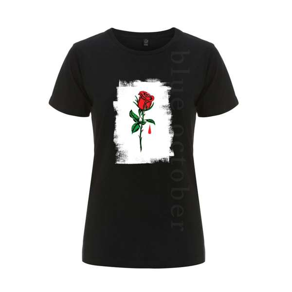 Rose Drip – Ladies Tee - Blue October
