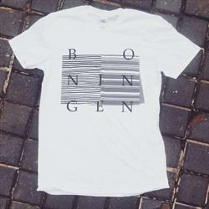 Bo Ningen - Lines T-shirt - White - Back In Stock! - Bo Ningen