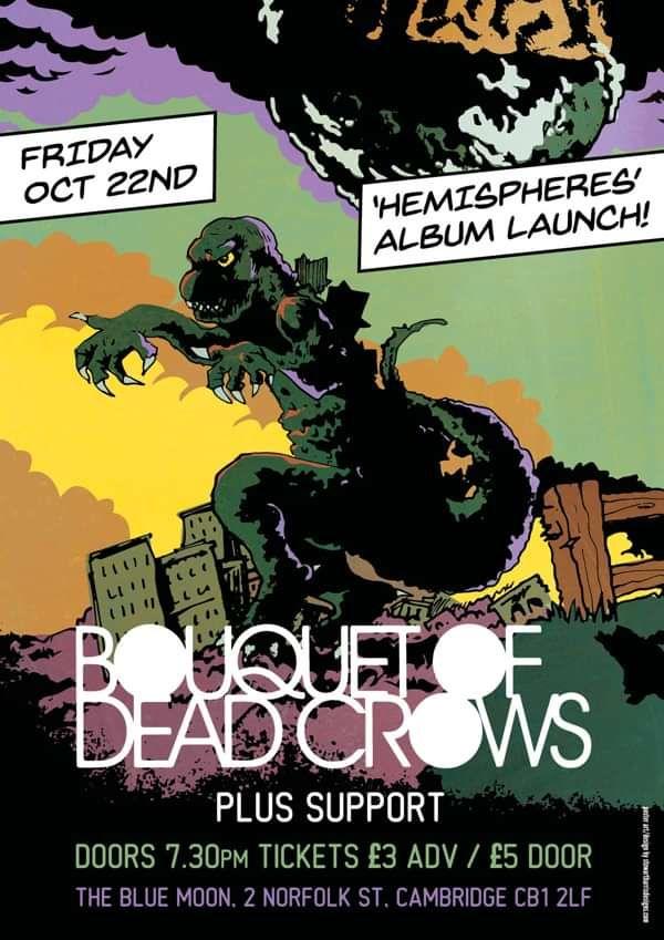 Hemispheres album launch ticket - Bouquet Of Dead Crows