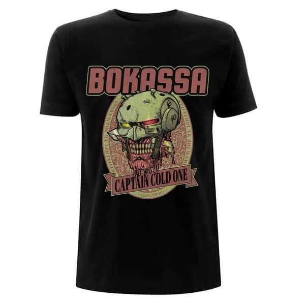 Captain Cold One - Black Tee - Bokassa