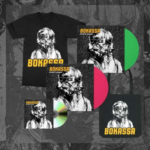 Divide & Conquer - Both Vinyl + CD + Tee + Tote - Bokassa