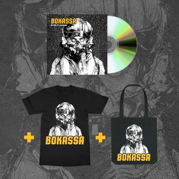 Divide & Conquer - CD + Tee + Tote - Bokassa