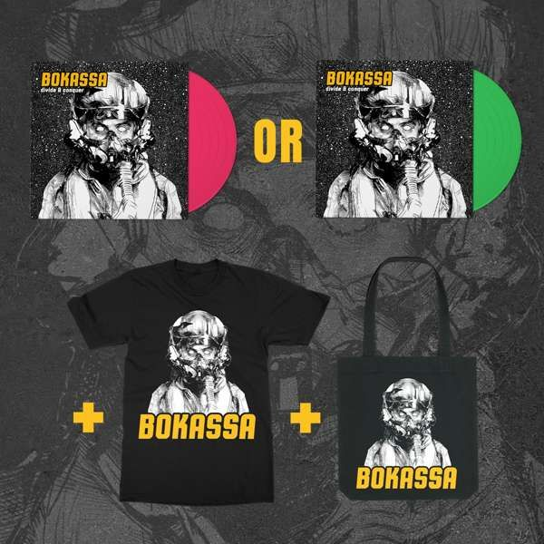 Divide & Conquer - Coloured Vinyl Option + Tee + Tote - Bokassa