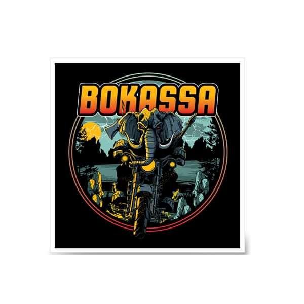 "Elephant – Signed 12"" Art Print - Bokassa"