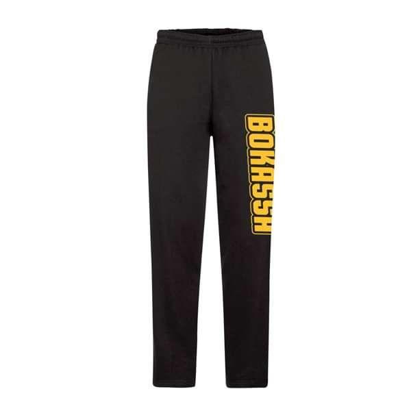 OG Logo - Black Open Legged Sweat Pants - Bokassa