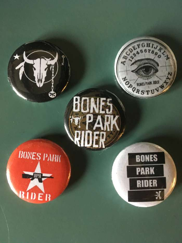 Badges (set of five) - Bones Park Rider