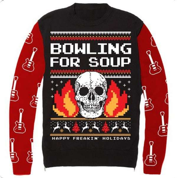 Flaming Skull (Christmas Sweater) - Jumper - Bowling For Soup