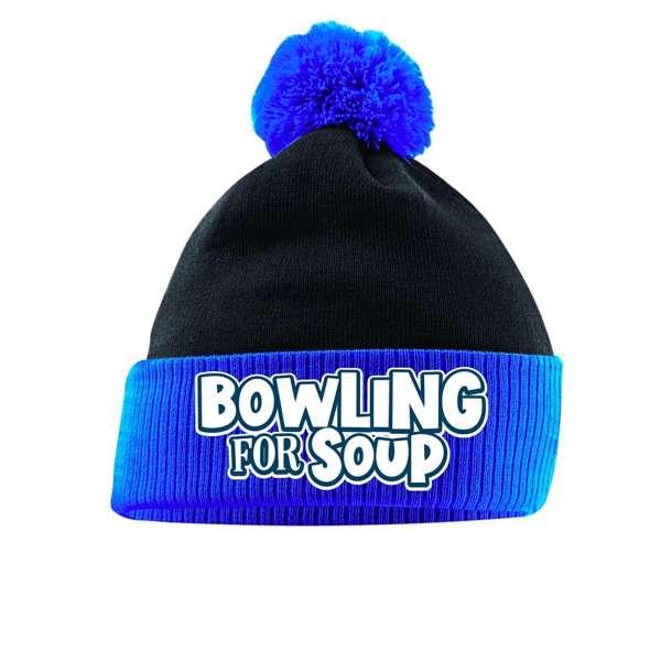 Logo – Black/Blue Bobble Beanie - Bowling For Soup
