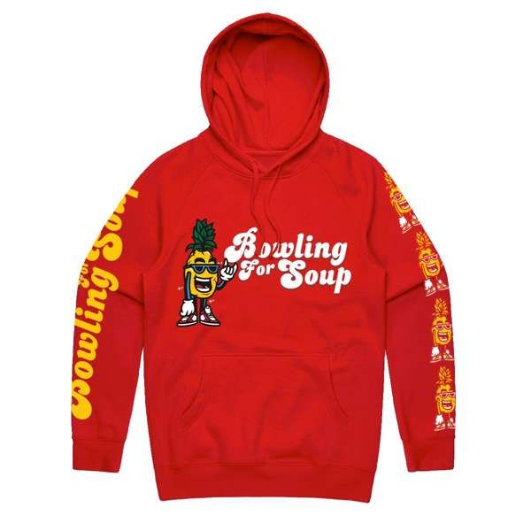 Pineapple - Red Hooded Top - Bowling For Soup