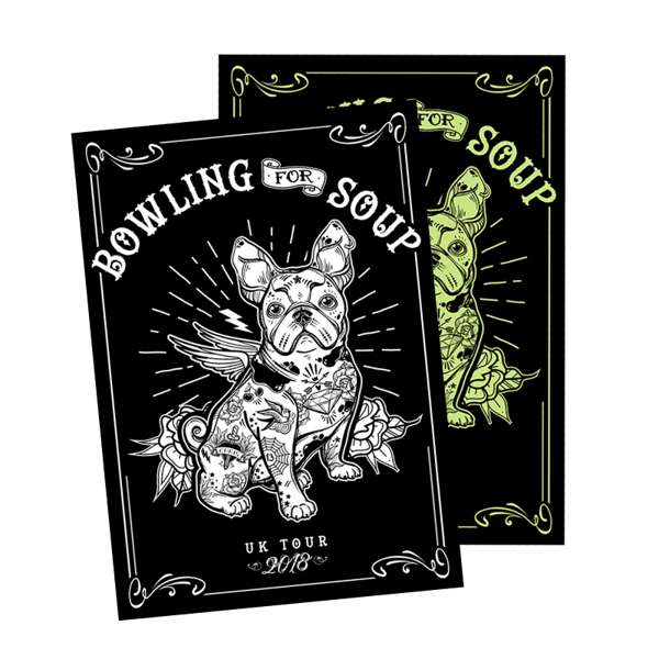 Sherman Glow In The Dark – Screen Printed A2 Poster - Bowling For Soup