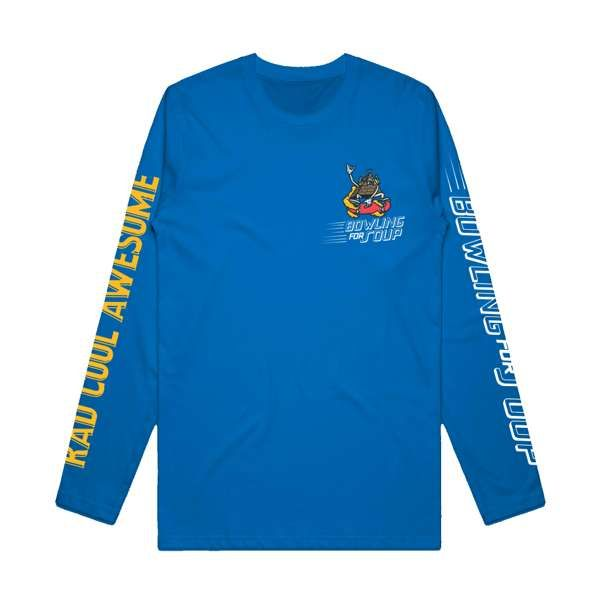 Skate Dude - Royal Blue Long Sleeve - Bowling For Soup