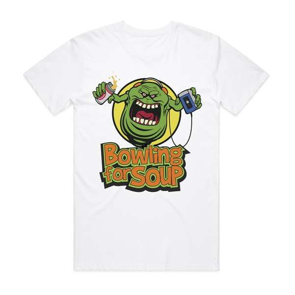 Slimer - White Tee - Bowling For Soup