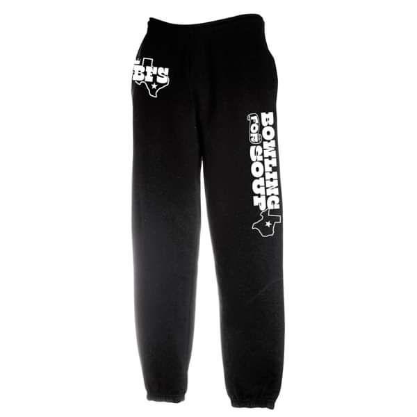 Texas Logo - Black Cuffed Sweat Pants - Bowling For Soup