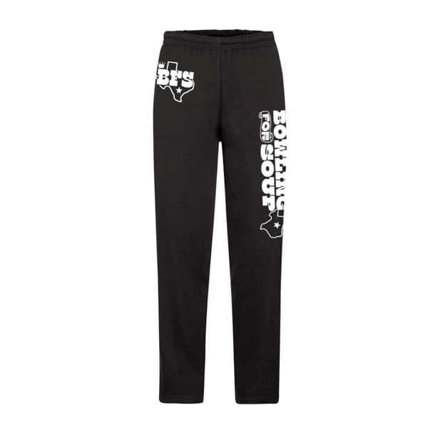 Texas Logo - Black Open Leg Sweat Pants - Bowling For Soup