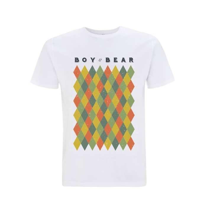 Harlequin - White T-Shirt - Boy & Bear US