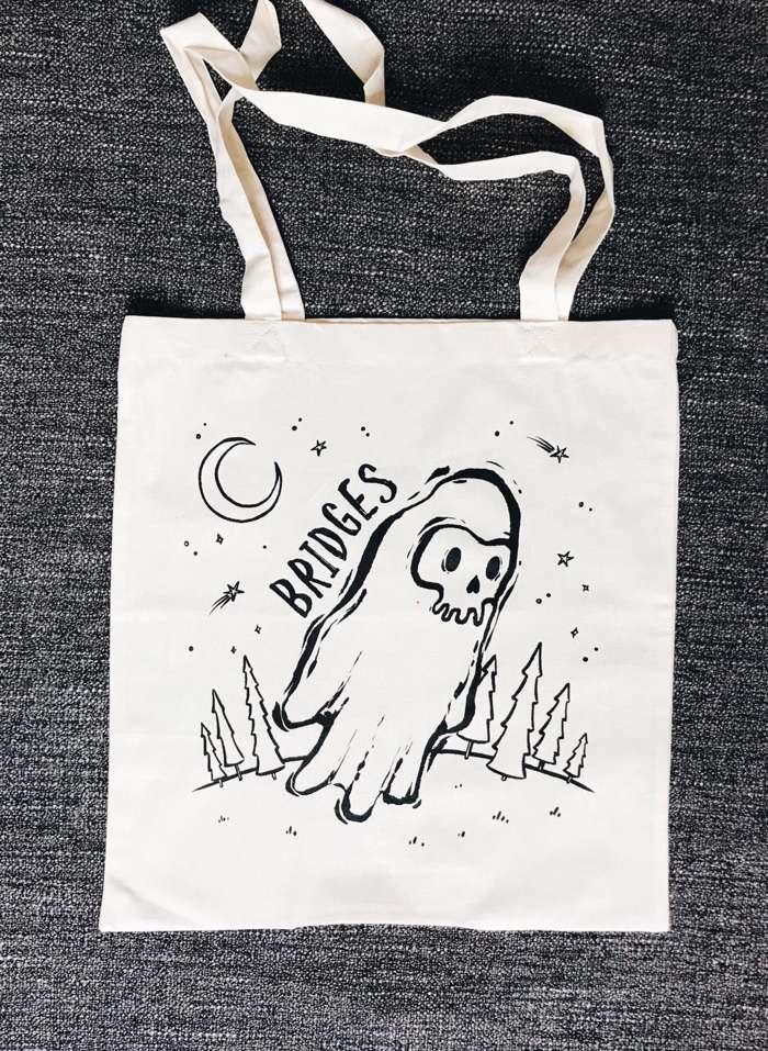 Ghost Logo Tote Bag - BRIDGES