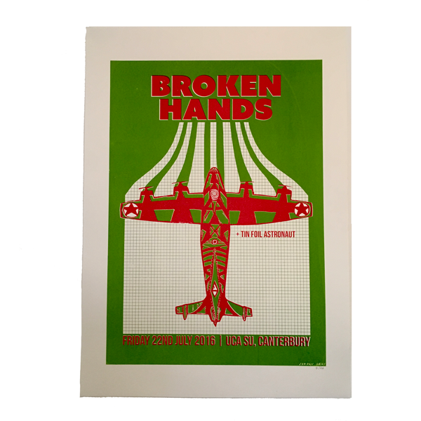 Limited Screen Print Poster A2 - Broken Hands