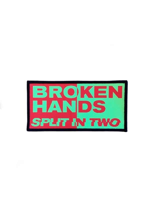 Split In Two (Iron On Patch) - Broken Hands