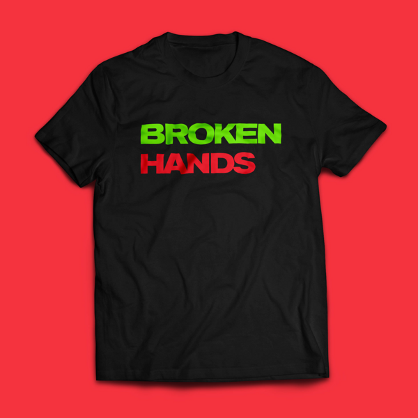 Split T-shirt - Broken Hands