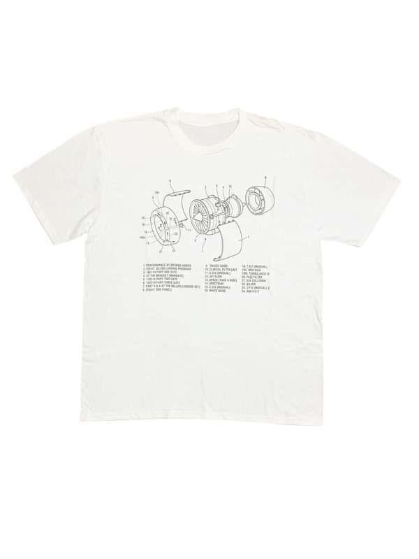 White (Pre Turbulence) T-Shirt - Broken Hands