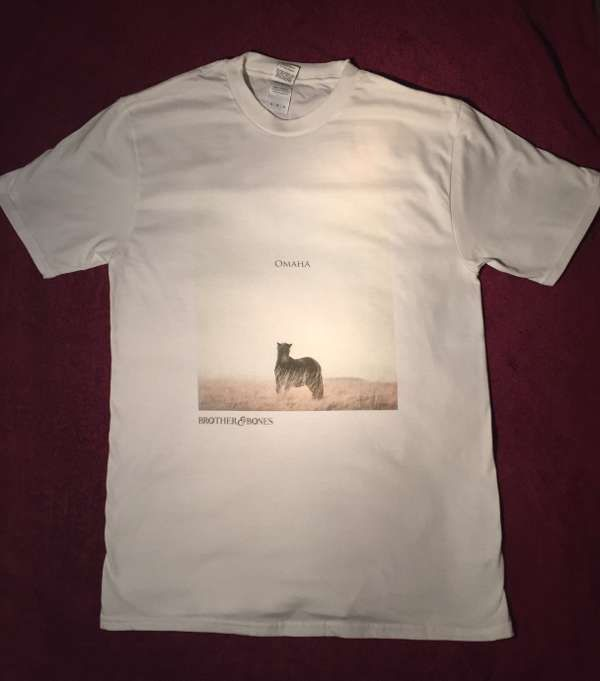 Mens 'Omaha Artwork' T-Shirt - WHITE - Brother & Bones