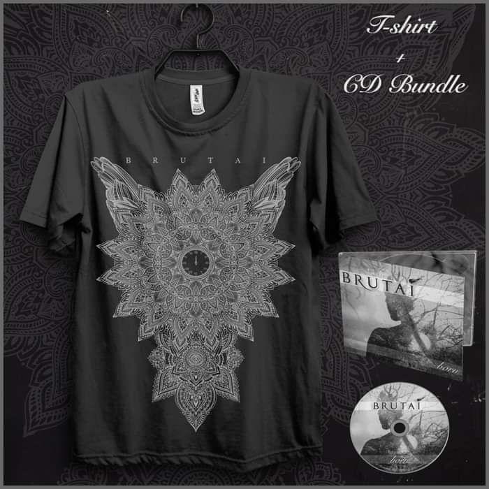 CD + Mandala T-Shirt (Black) - Brutai