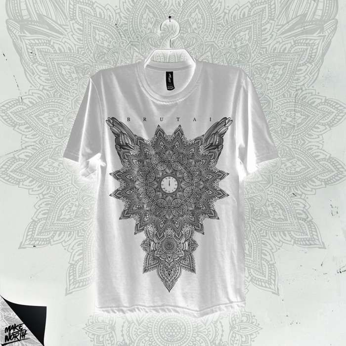 Mandala T-Shirt (White) - Brutai