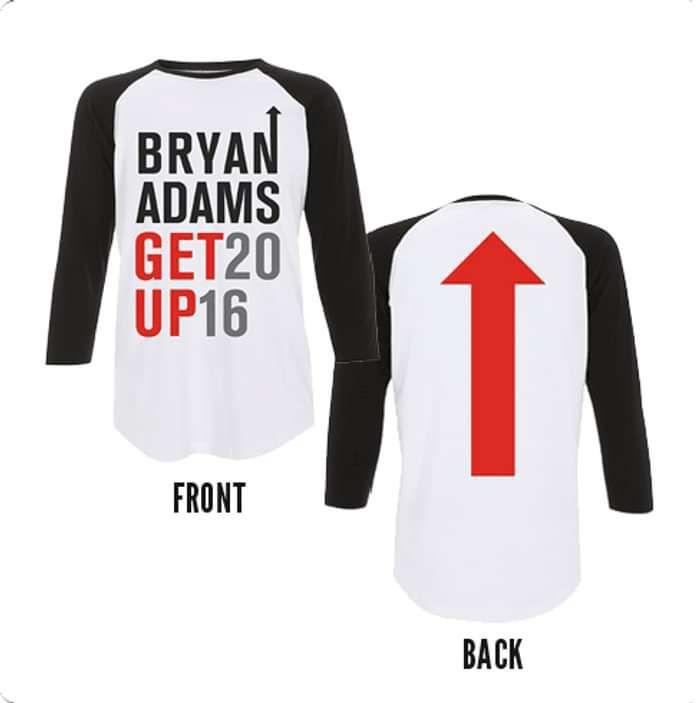Get Up 2016 - Baseball (Black/White) - Bryan Adams