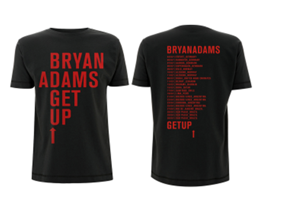 Get Up Bold Black 2017 - Tee - Bryan Adams