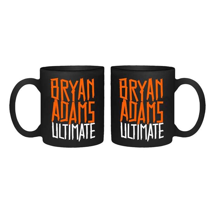 Tape Type Logo - Black Mug - Bryan Adams
